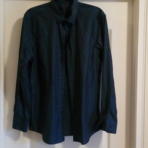 Perry Ellis | Dark Green Men's Dress Shirt